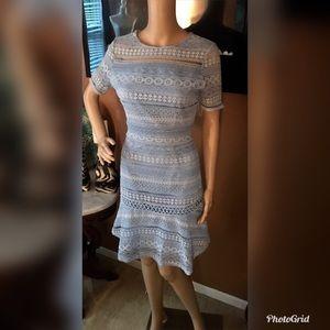 NWT Chelsea28 Women's Blue Lace Dress